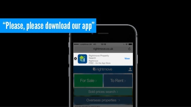 """Please, please download our app"""