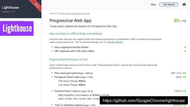 https://speedcurve.com/blog/pwa-performance/ WebPageTest
