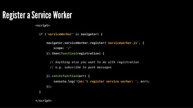 """Option to install via Link may be coming <link rel=""""serviceworker"""" scope=""""/"""" href=""""/serviceworker.js""""> or Link </servicewo..."""