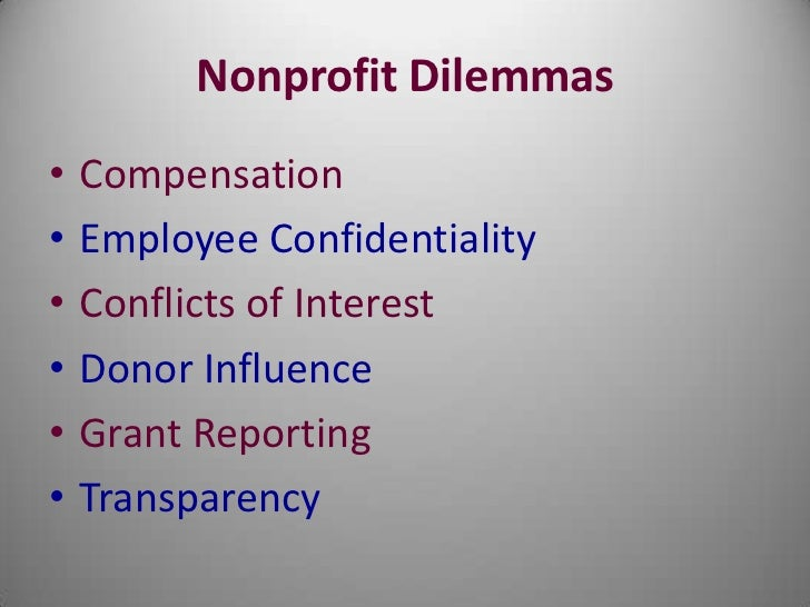 ethics and nonprofits This is chapter 1 of the textbook, ethics in nonprofit organizations it focuses on introducing the topic of ethics generally, providing a brief history, and.