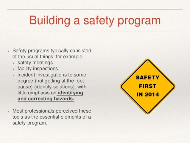 Building An Effective Safety Culture