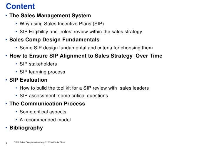 building an effective sales compensation framework
