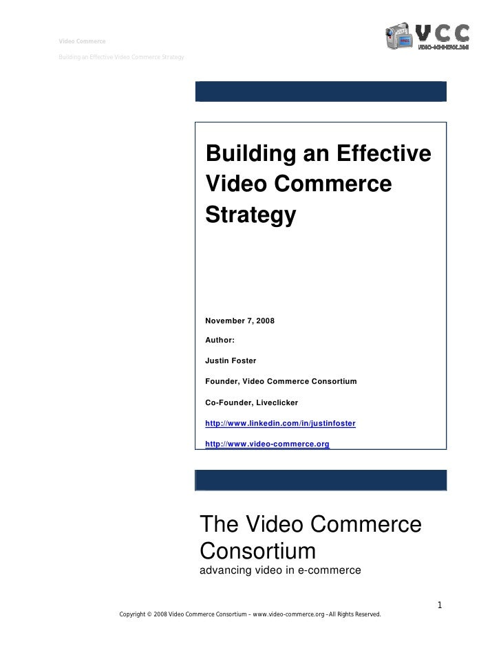 Video Commerce  Building an Effective Video Commerce Strategy                                                       Buildi...