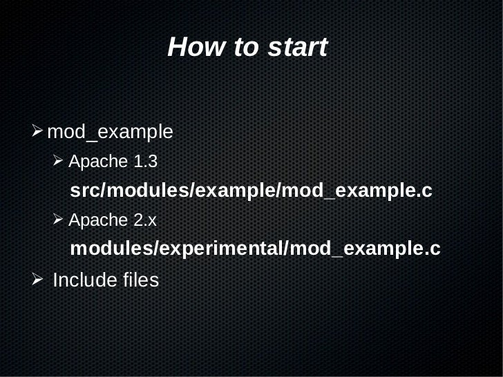 building apache modules