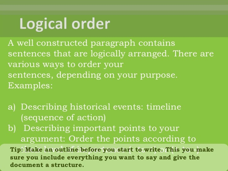 Logical Order: The Organization of Ideas in an Essay