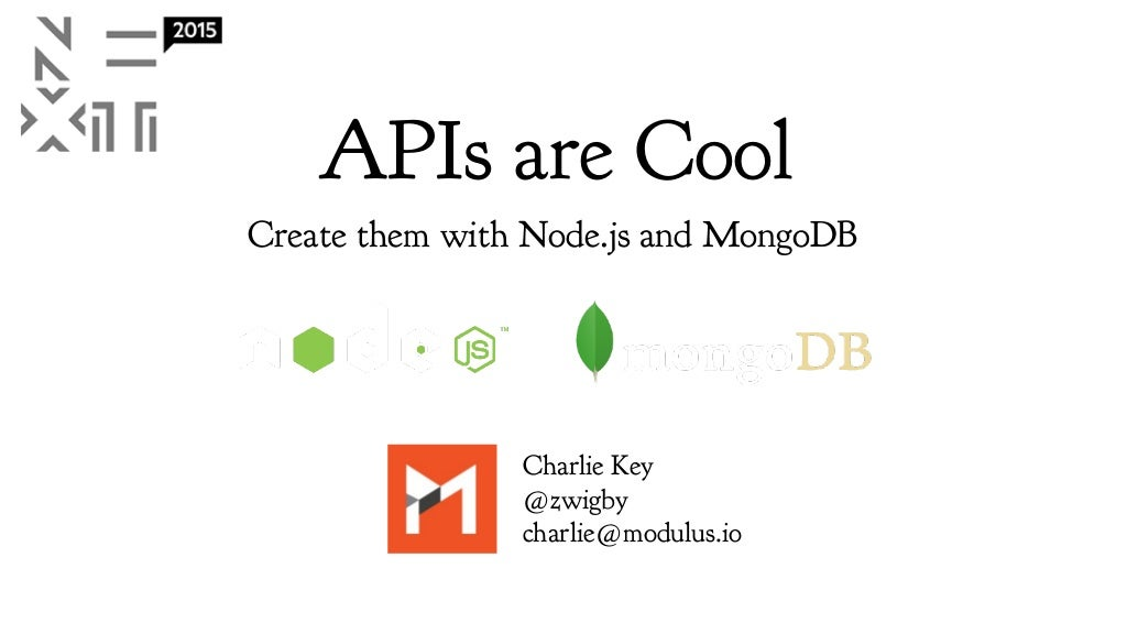 Building APIs with Node.js and MonogDB