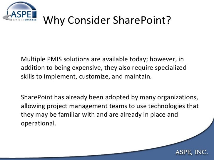sharepoint for project management how to create a project management information system pmis with sharepoint