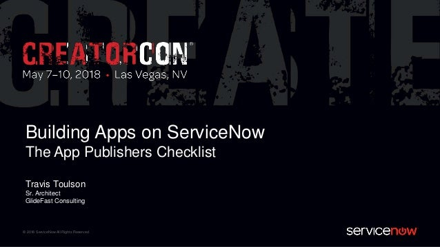 Building Apps on ServiceNow: The App Publishers Checklist