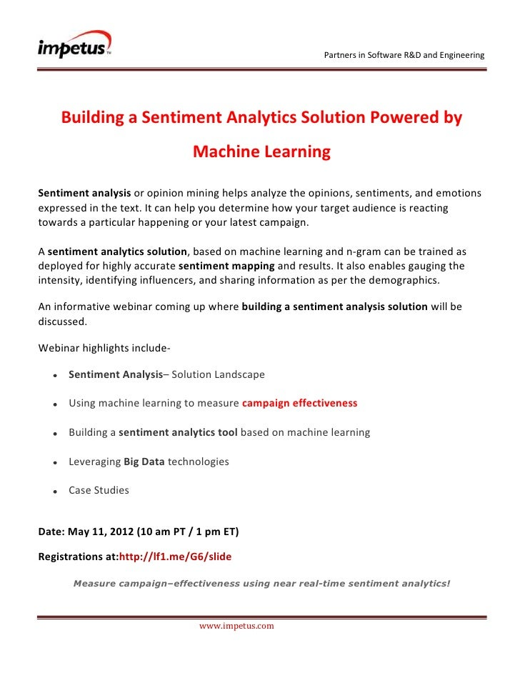 Partners in Software R&D and Engineering    Building a Sentiment Analytics Solution Powered by                            ...