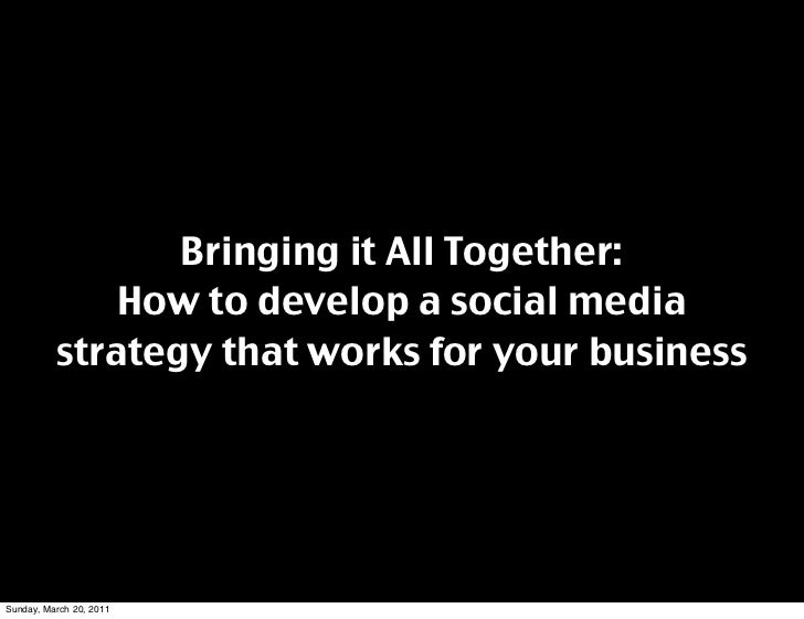 building a strategy for social media Definition of social media marketing find out how to identify the best social media platforms for your business, and how to develop a social media strategy.