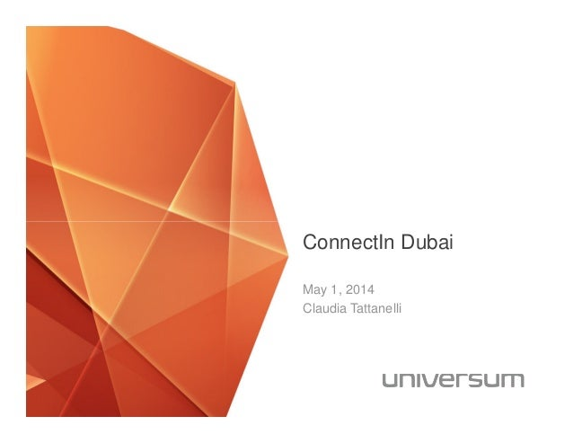 ConnectIn Dubai May 1, 2014 Claudia Tattanelli