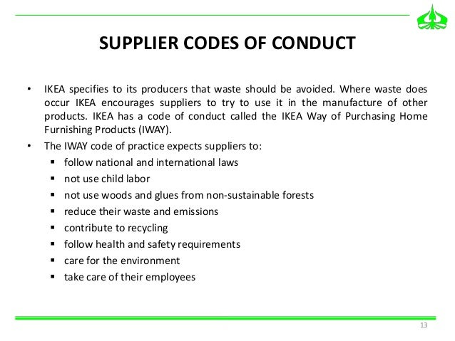 Inter IKEA Group code of conduct