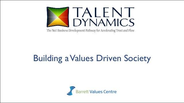 Building aValues Driven Society
