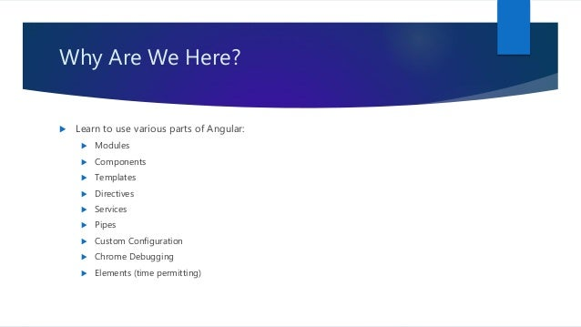 Building a website with angular Slide 2