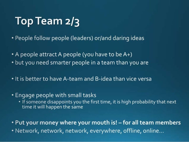 Building a winning startup team - Basics