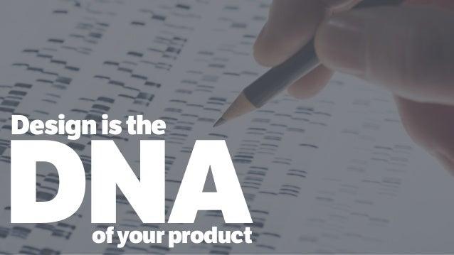 DNA Designisthe ofyourproduct