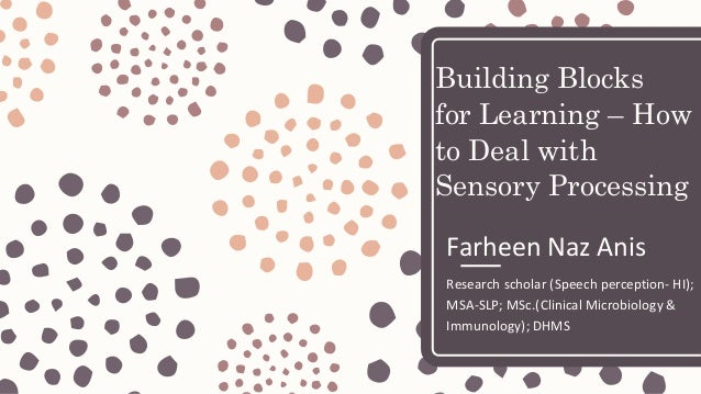 The Essence Of Sensory Processing >> Building Blocks For Learning How To Deal With Sensory