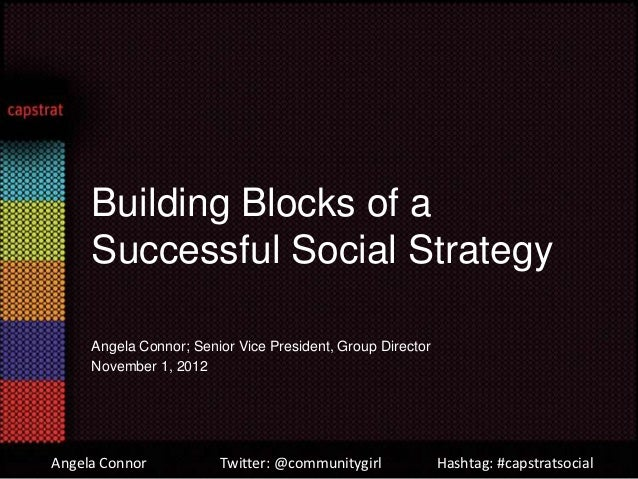 Building Blocks of a     Successful Social Strategy     Angela Connor; Senior Vice President, Group Director     November ...