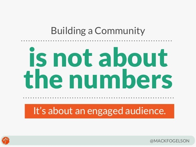 The Essentials of Community Building by Mack Fogelson Slide 3