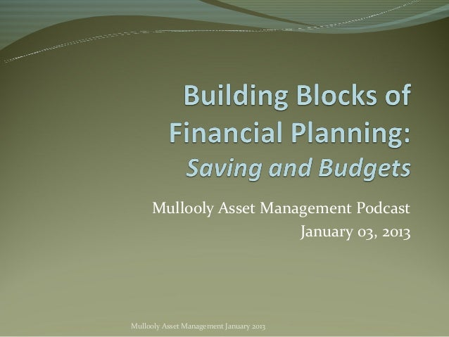 Mullooly Asset Management Podcast                        January 03, 2013Mullooly Asset Management January 2013