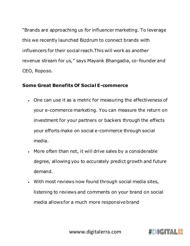 """wwww.digitalerra.com """"Brands are approaching us for influencer marketing. To leverage this we recently launched Bizdrum to..."""