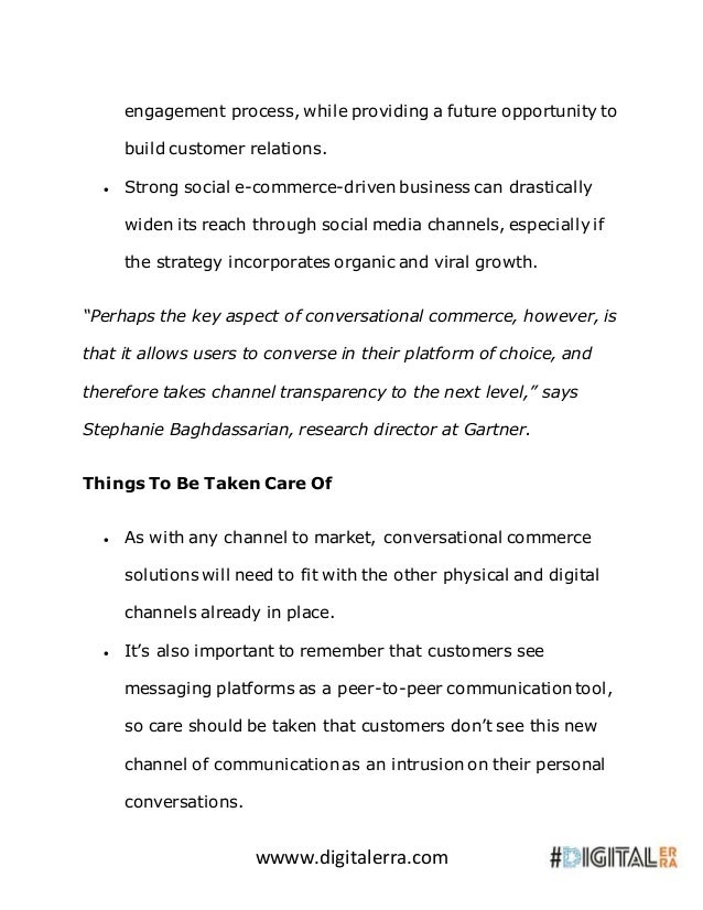 wwww.digitalerra.com engagement process, while providing a future opportunity to build customer relations.  Strong social...