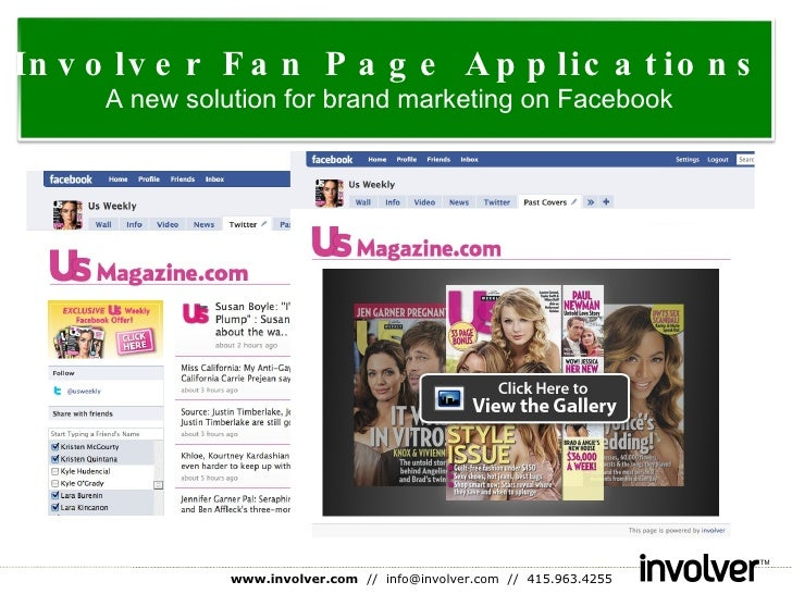 Involver Fan Page Applications A new solution for brand marketing on Facebook