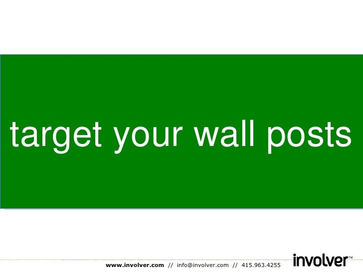 target your wall posts
