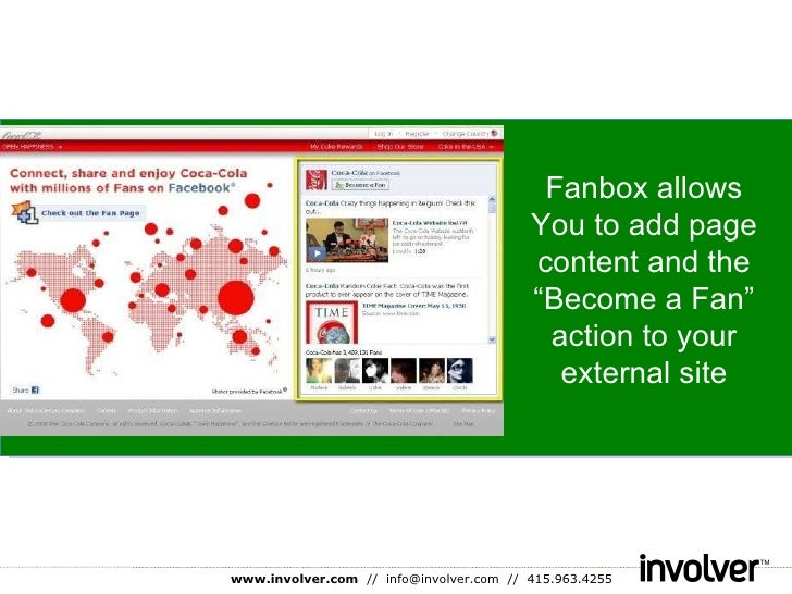 """Fanbox allows You to add page content and the """"Become a Fan"""" action to your external site"""