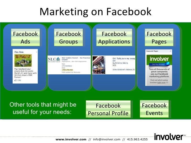 Marketing on Facebook Facebook Ads Facebook Groups Facebook Applications Facebook Pages Facebook Personal Profile Facebook...