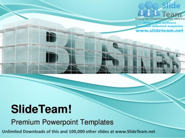 Building Business Architecture Power Point Themes Templates And Slide