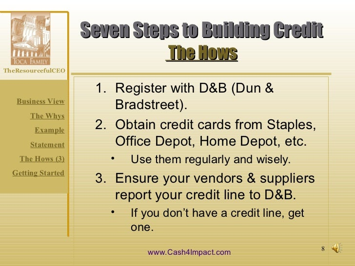 Why how to build business credit cash4impact 8 reheart Gallery
