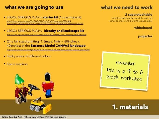 1. materials Néstor González Aure - https://www.linkedin.com/in/nestorgonzalezaure • LEGO© SERIOUS PLAYTM starter kit (1 x...