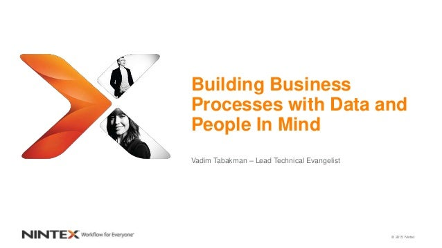 © 2015 Nintex Building Business Processes with Data and People In Mind Vadim Tabakman – Lead Technical Evangelist