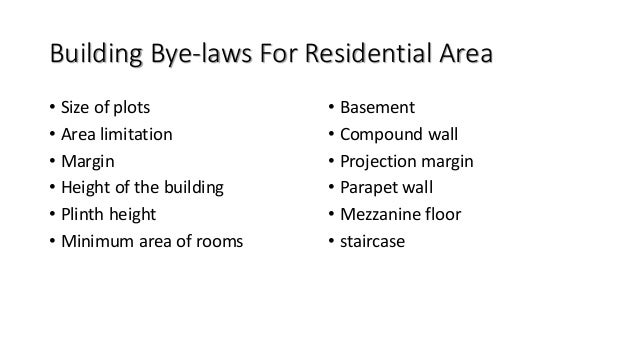 • Built up area: The FSI shall be 1.0 with maximum utilization up to 0.4 on ground floor. Sr.No. Area of plot Maximum perm...