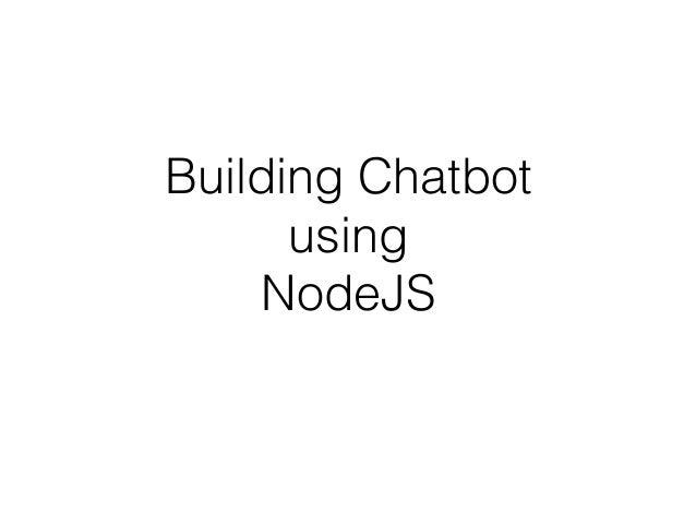 Node Js Chat Bot