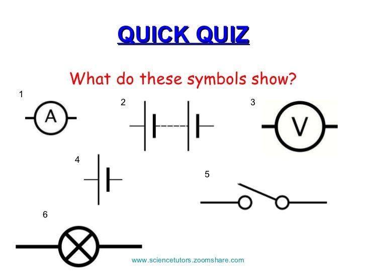 building electrical circuits rh slideshare net circuit schematic symbols quiz Schematic Circuit Diagram