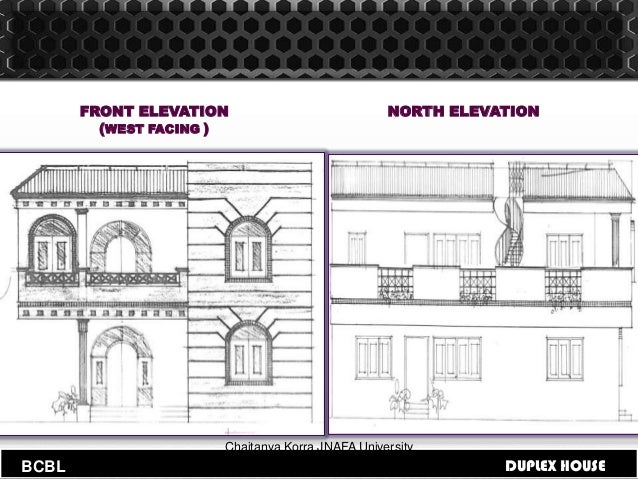 Front Elevation North Facing House : Building codes and byelaws for duplex house