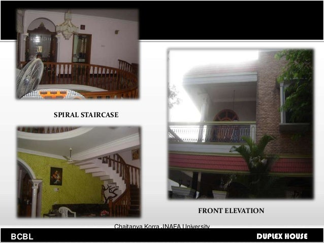 Front Elevation Of Spiral Staircase : Building codes and byelaws for duplex house
