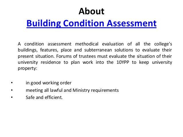building condition assessment. Black Bedroom Furniture Sets. Home Design Ideas