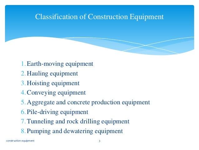 Ppt module 3: heavy equipment powerpoint presentation id:271474.