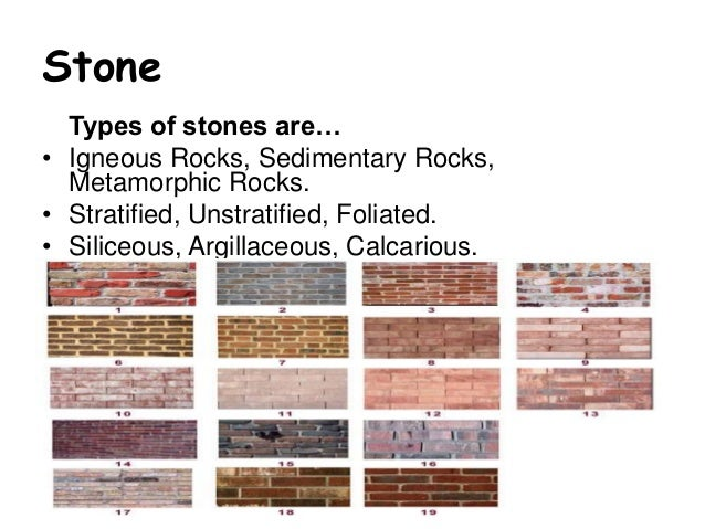 Stone Construction Materials : Building construction materials