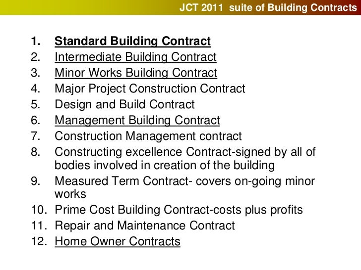 Building contracts and the jct for Cost plus building contract template
