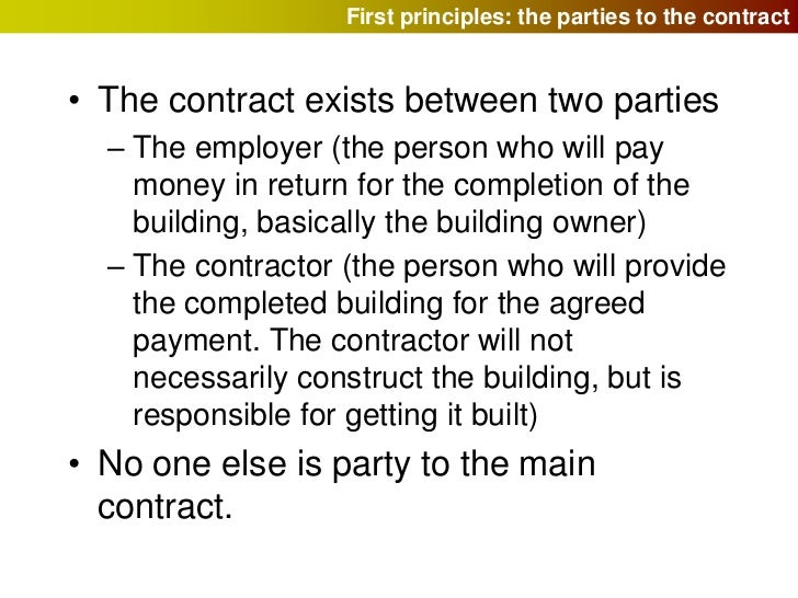 Building contracts and the JCT – Agreement Letter Between Two Parties for Payment