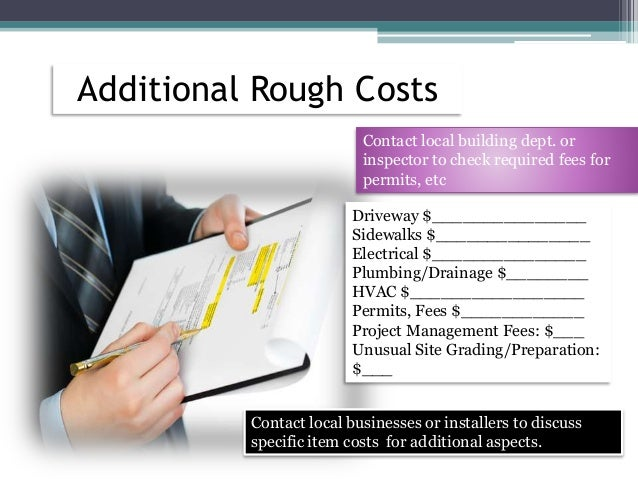 How to estimate garage building costs for Rough cost to build a house