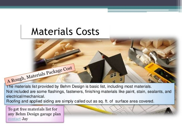 How to estimate garage building costs for Labor cost to build a garage