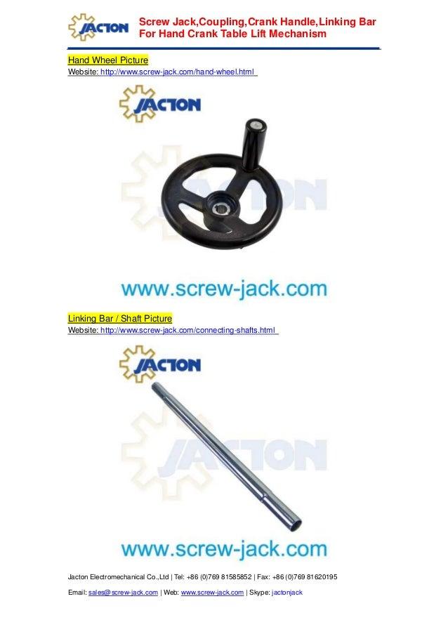 Building crank handle table lift mechanism,design crank wheel platfor…