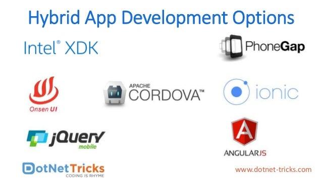 Hybrid App Development Options www.dotnet-tricks.com