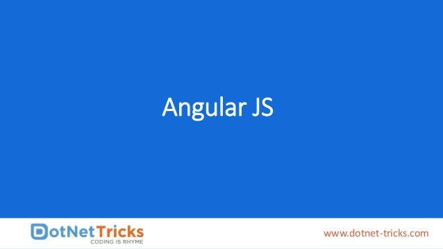 Angular JS www.dotnet-tricks.com