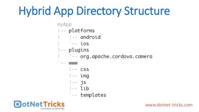 Hybrid App Directory Structure www.dotnet-tricks.com